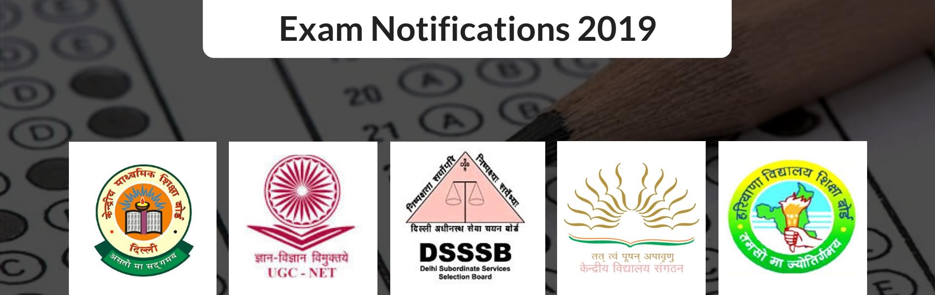 2019 Exam Notification
